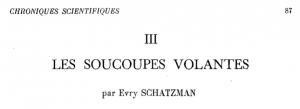 Titre de l'article publié par Evry Schatzman dans La Pensée, 1951.