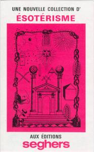"""Dépliant des Editions Seghers présentant la collection """"La Table d'Emeraude"""" dirigée par Jean-Claude Frère."""